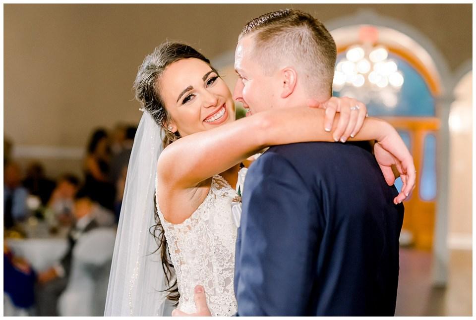 bride and groom first dance in denham springs la