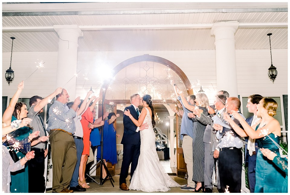 reception sparkler exit in louisiana