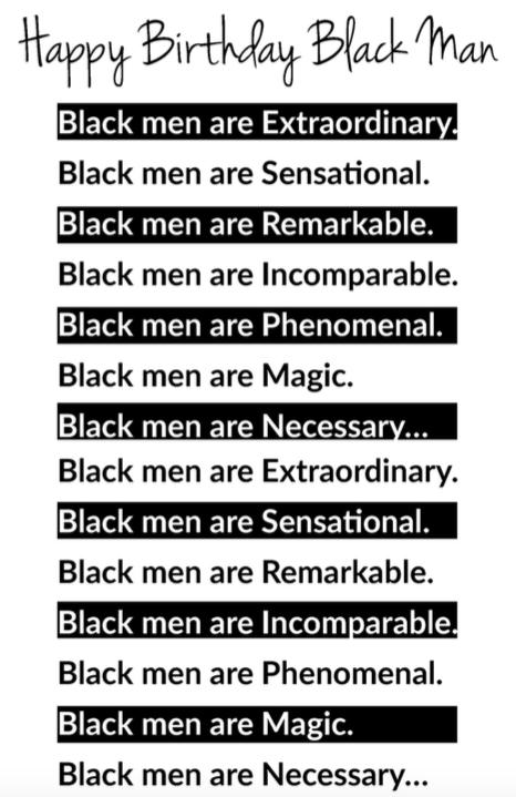 Happy Birthday Black Man I Brittany Capri