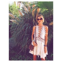 rosie huntington-whitley / because she's always gorgeous but coachella fashion really suits her