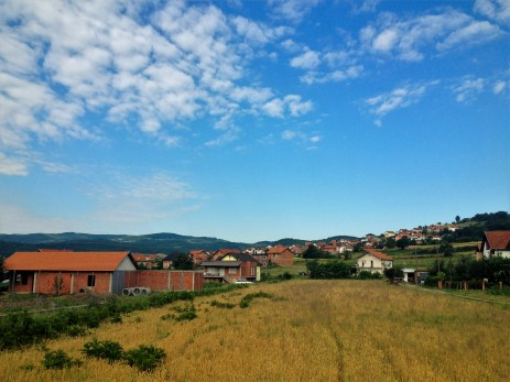Walk to training for PST in Kamenice