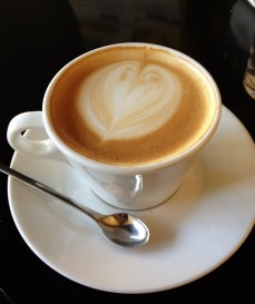 macchiato coffee heart
