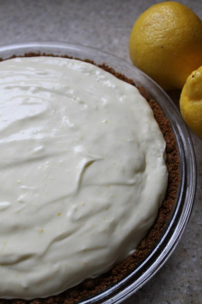 No-Bake Lemon Chiffon Pie W/Gingersnap Crust {Brittany's Pantry}