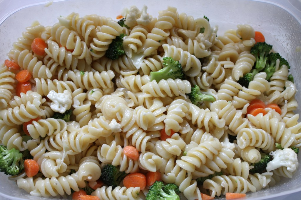 Sweet Veggie Pasta Salad is a nice change from the norm! {Brittany's Pantry}
