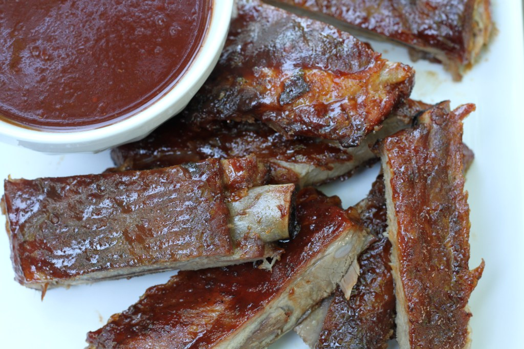 Super Easy Sweet & Tangy Pork Ribs via Brittany's Pantry