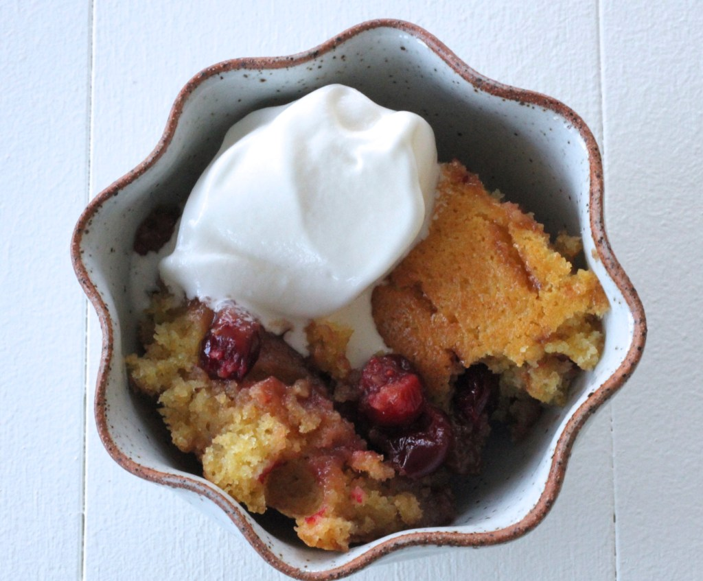 Cranberry Maple Pudding Cake
