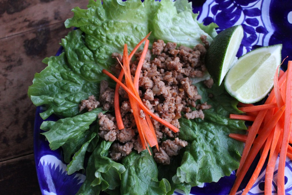 Asian Turkey Lettuce Wraps are low carb, gluten green, and so good it will blow your mind! {Brittany's Pantry}