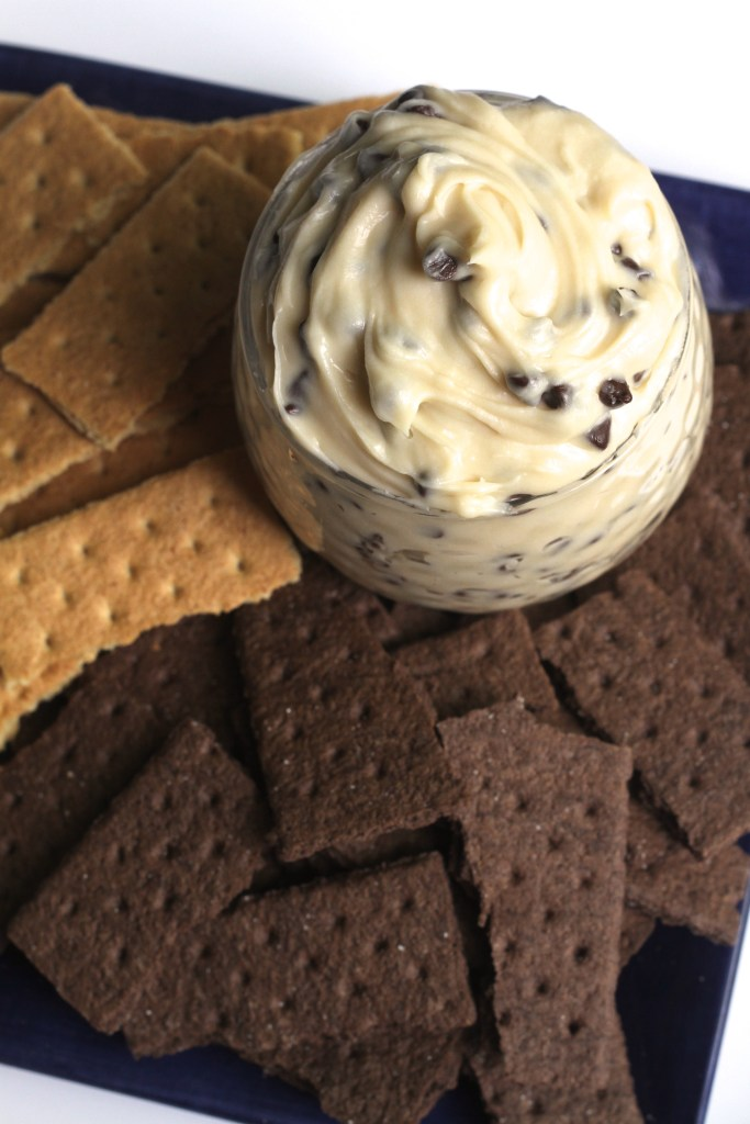 Creamy Chocolate Chip Cookie Dough Dip via Brittany's Pantry