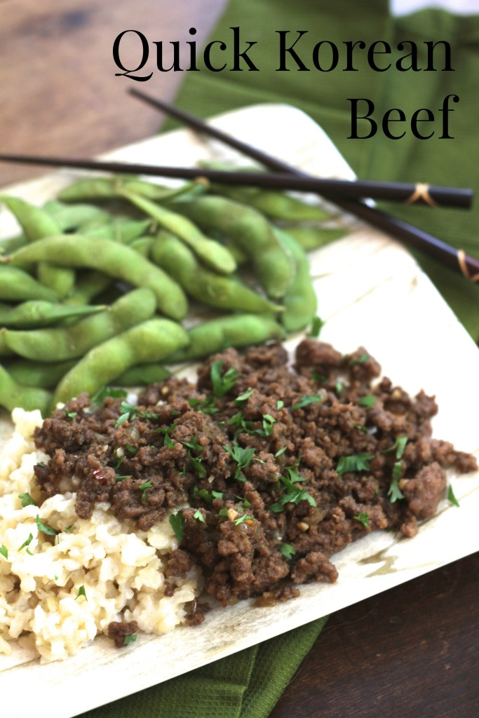 Quick Korean Beef via Brittany's Pantry