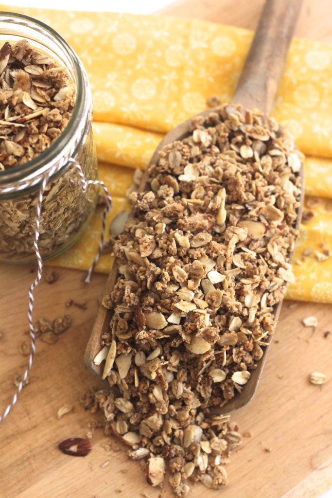 This Maple Almond Granola is crunchy and toasty and incredibly easy! {Brittany's Pantry}