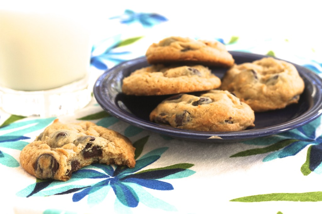 These Soft-Batch, Cream Cheese, Chocolate Chip Cookies are absolutely classic! Sweet little pillows of delight! {Brittany's Pantry}