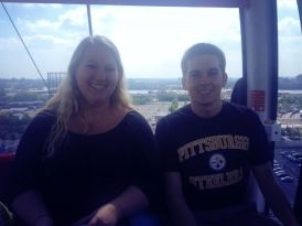 Tyler and I on the Emirates Air Line