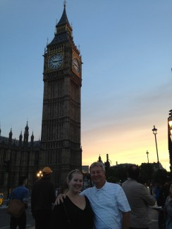 dad and I in front of Big Ben