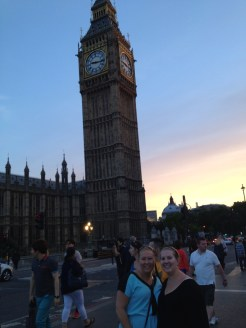 mom and I in front of Big Ben