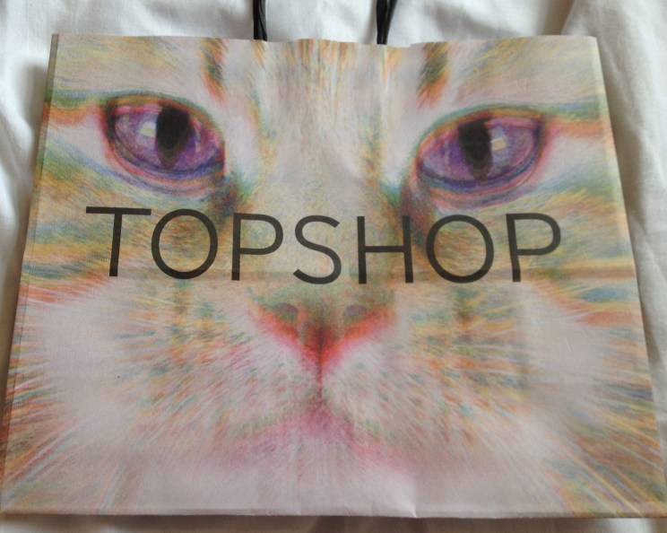 shopping bag from TopShop