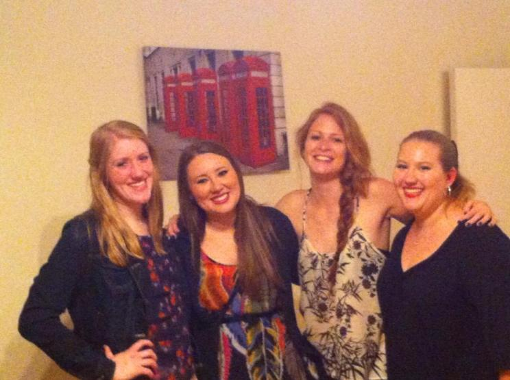 Galen, Julie, Amanda, and I getting ready to go out