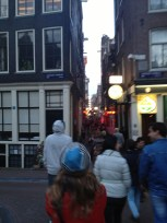 blurry picture of the Red Light District