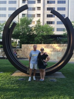 dad and I in the CityGarden