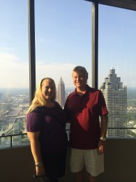 dad and I at the top of the Westin