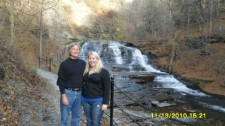 dad and I in front of a gorge