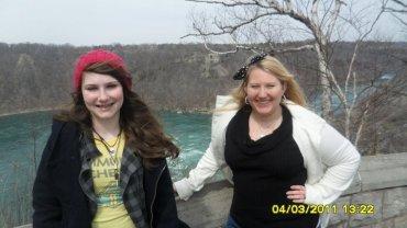 Kelly and I near the Niagara River