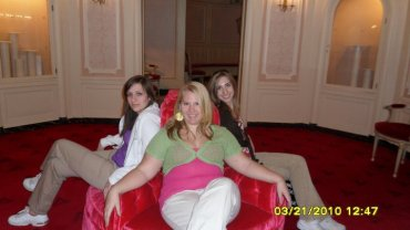 Alicha, Andrea, and I in the chairs