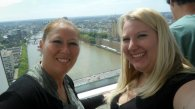 mom and I on the London Eye