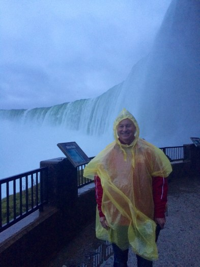 Dad at the Observation Deck at the Journey Behind the Falls
