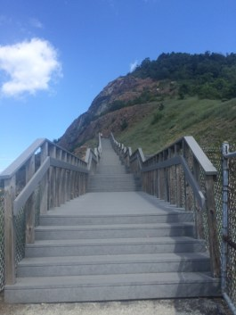 Stairs to Scenic View at Sideling Hill Rest Area