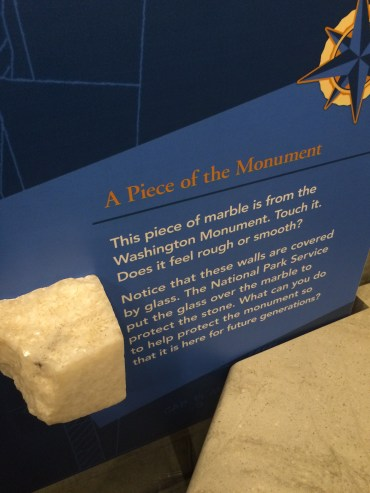 a piece of the monument