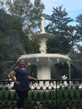 me in front of the Forsyth Park Fountain
