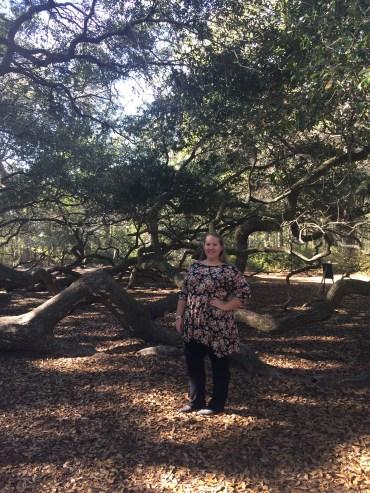 me in front of the Angel Oak Tree