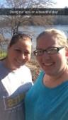 mom and I at Granby Park