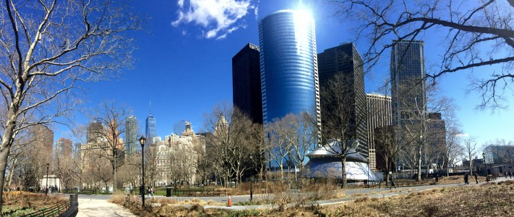 skyline from Battery Park