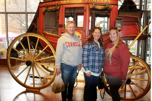 mom, dad, and I at the Wells Fargo Museum