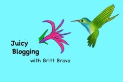 Test of LARGER britt hummingbird juicy blogging for nonprofits logo 6:11