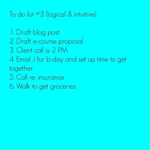 To do list three