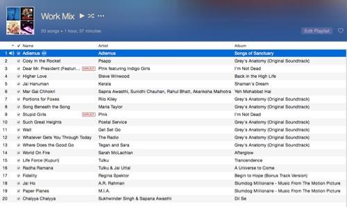 Work Mix Playlist