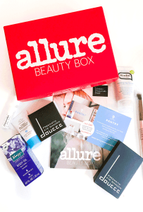 The Allure Beauty Box is a $15/month subscription and I'm very happy with the May box which has a lot of natural products that are cruelty free and a LUXIE brush!
