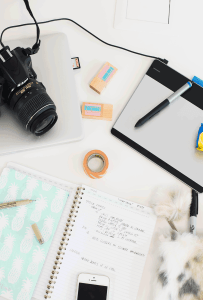 The ultimate goal of my space was to get my 5 must desk essentials for blogging to work into a small space and still remain organized. Come on in and see how I did it.
