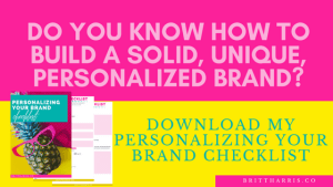 Personalizing Your Brand Checklist Download