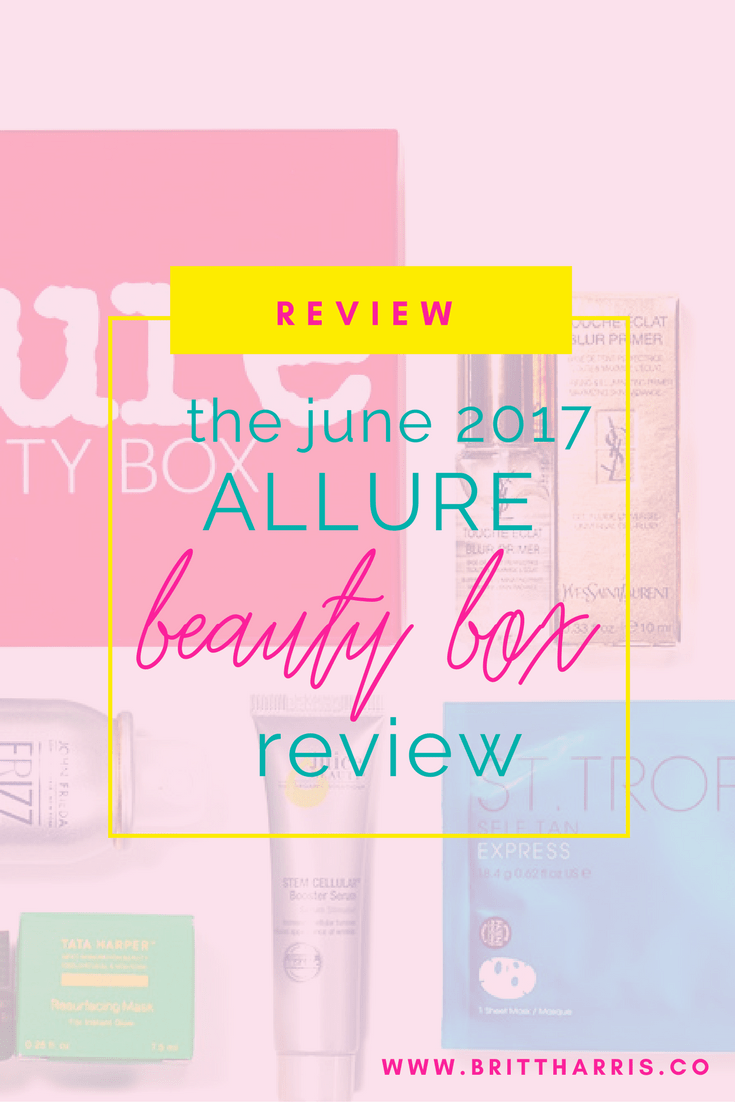 The June 2017 Allure Beauty Box