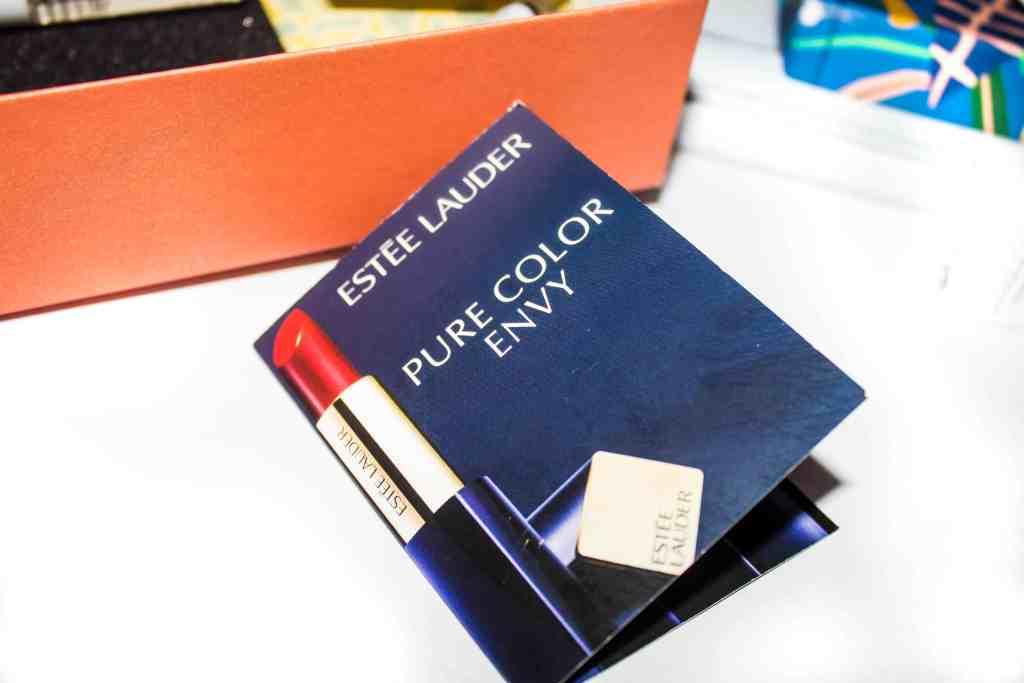 Behind The Scenes October 2017 Birchbox Review - Estée Lauder Pure Color Envy Sculpting Lipstick in Envious