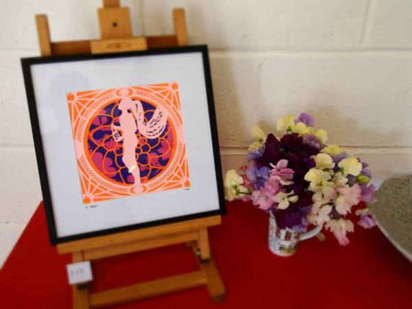 Burlesque Paper Cut Constance Peach at Creative up North