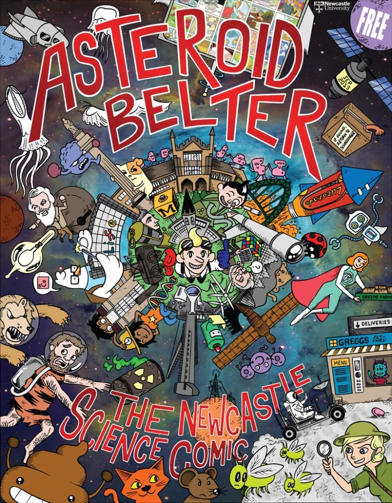 The cover for Asteroid Belter: The Newcastle Science Comic.