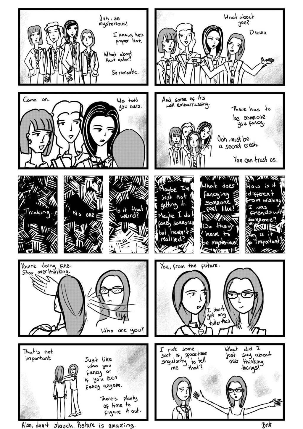 It's Fine comic, a comic about trying to figure out life as a teenager and overthinking things.