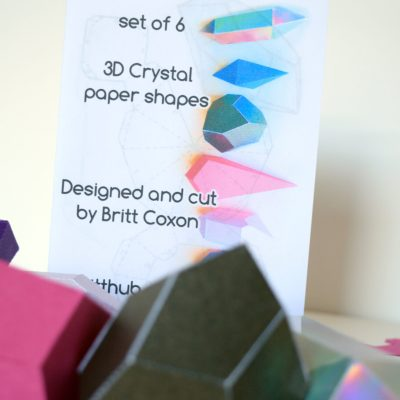 Crystal shapes Activity Kit instructions