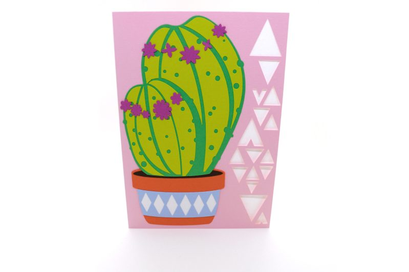Cactus Card in pink