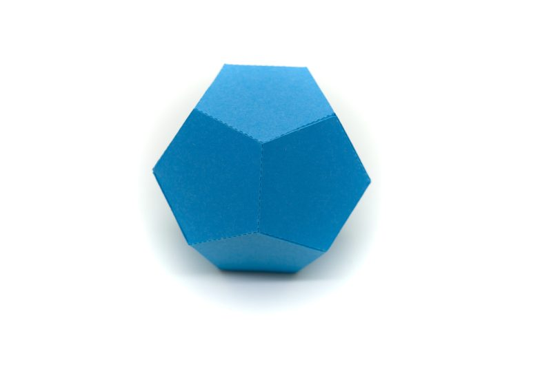 Platonic Solids colourful 3d paper activity kit dodecahedron