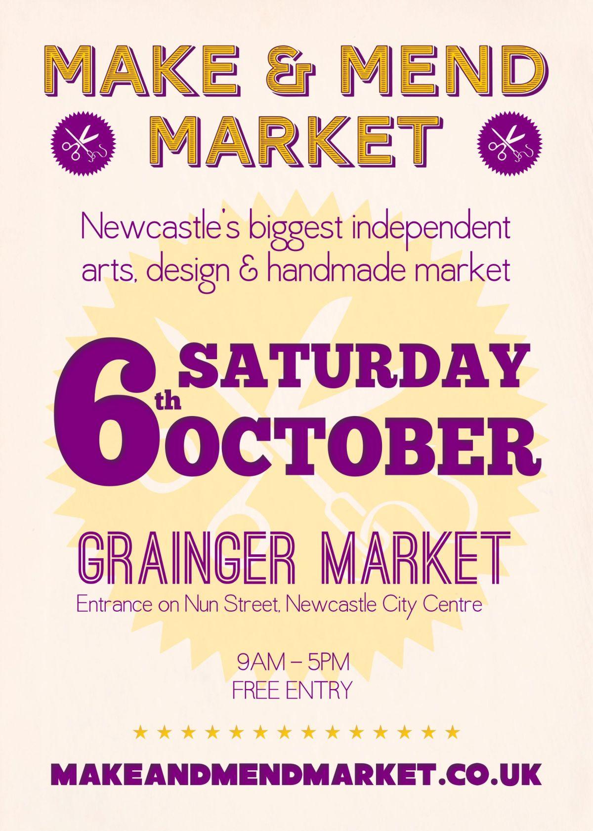 Make & Mend Market Flyer Design - October 2012